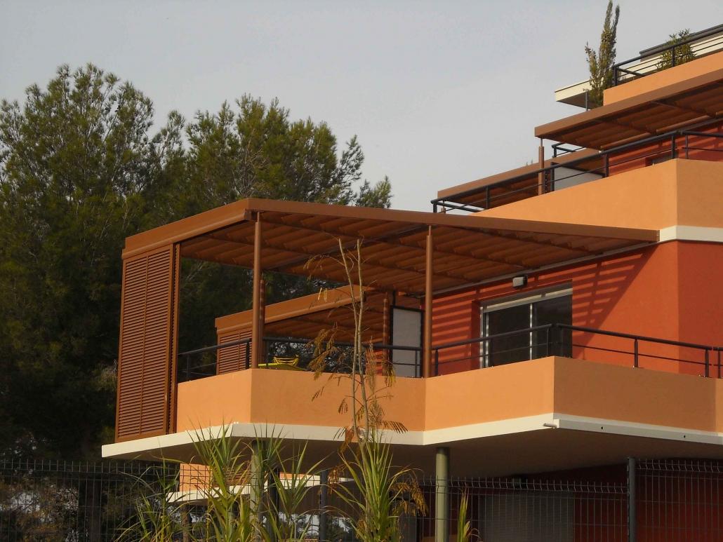 Pergola sur balcon