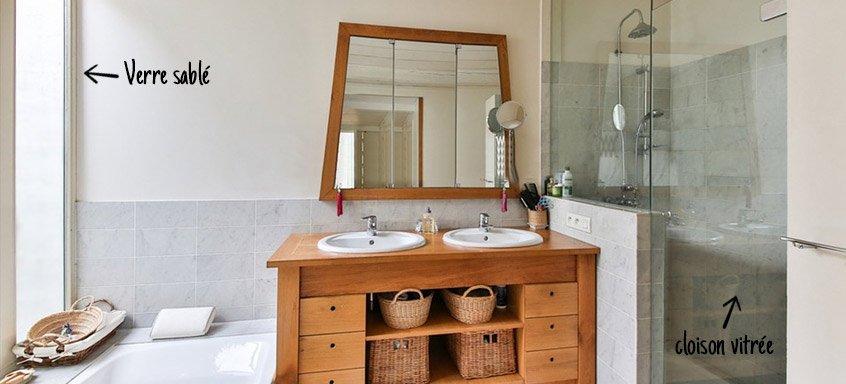 Cloison vitrée salle de bain